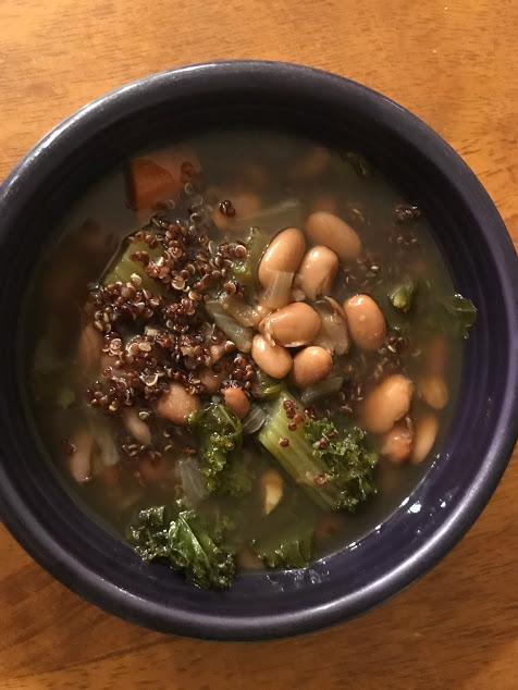 soup in fiestaware