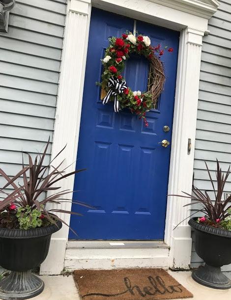 planters with front door