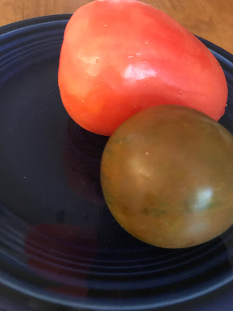 roma and brown tomato